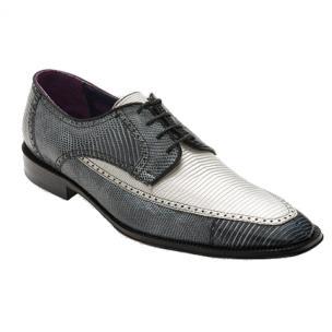David X Guam Lizard Shoes Silver / Gray Image
