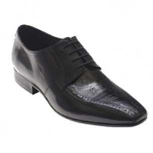 David X Josh Ostrich & Calfskin Bicycle Toe Shoes Black Image