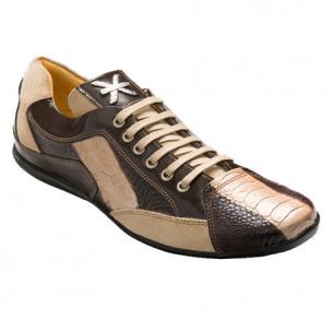 David X Legui Ostrich Sneakers Brown / Beige Image