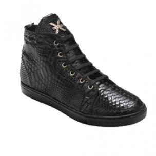 David X Mezzo Python Sneakers Black Image