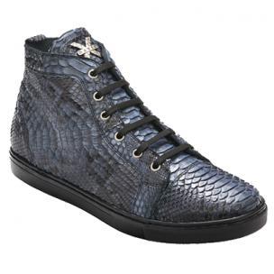 David X Mezzo Python Sneakers Electric Blue Image