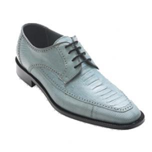 David X Monte Ostrich & Lizard Shoes Light Blue Image