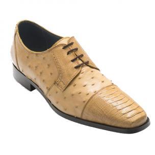 David X Ricardo Ostrich Cap Toe Shoes Beige Image