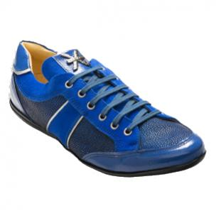 David X Sting Stingray Sneakers Blue Image
