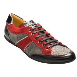 David X Sting Stingray Sneakers Silver / Red Image