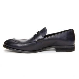Donald J Pliner Zan Penny Loafers Indigo Dipped Calf Image