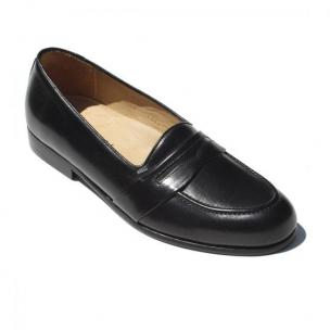 Alan Payne Sergio Italian Calfskin Slip On Loafers Black Image