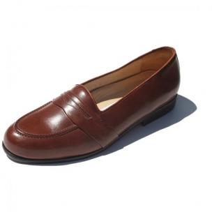 Alan Payne Sergio Italian Calfskin Slip On Loafers Chili Image