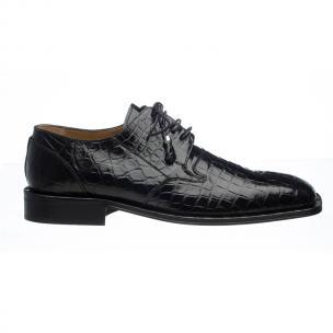 Ferrini 208 Alligator Square Toe Shoes Black Image