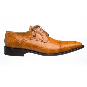 Ferrini 216M Alligator Cap Toe Shoes Cognac Image