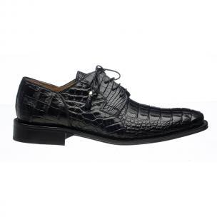 Ferrini 226 Hornback Alligator Derby Shoes Black Image