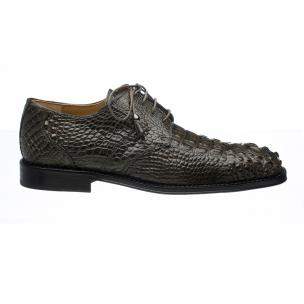 Ferrini 228 Hornback Alligator Square Toe Derby Shoes Elephant Image