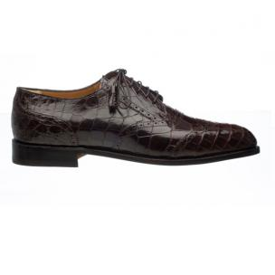 Ferrini 3673 Wingtip Alligator Derby Shoe Chocolate Image