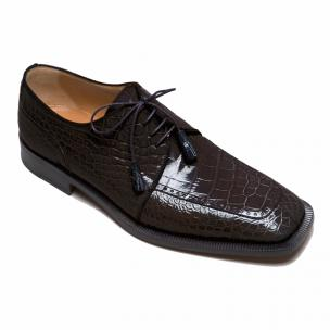 Ferrini 3678 Alligator Square Toe Shoes Black Image