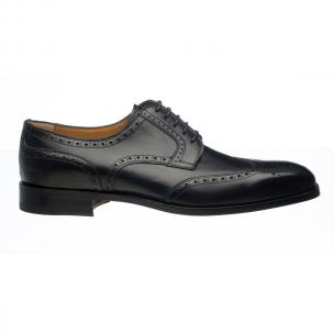 Ferrini 3704 / 160 French Calfskin Wingtip Brogues Black Image