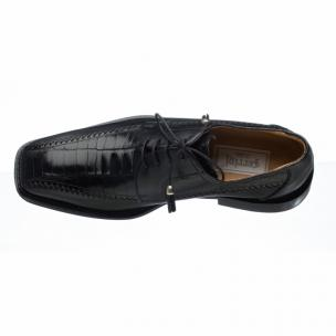 Ferrini 3746 Belly Caiman Calfskin Bicycle Toe Shoes Black Image