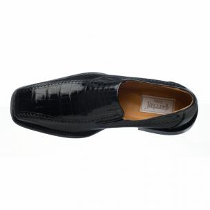 Ferrini 3761 Belly Caiman Calfskin Loafers Black Image