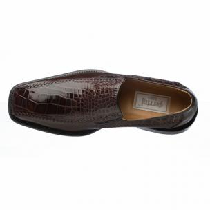 Ferrini 3761 Belly Caiman Calfskin Loafers Chocolate Image