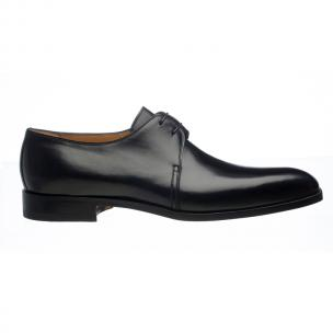 Ferrini 3786 / 160 French Calfskin Plain Toe Derby Shoes Black Image