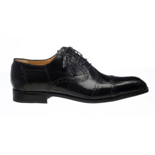 Ferrini 3922 Alligator Cap Toe Oxfords Black Image