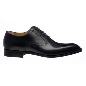 Ferrini 3922 French Calfskin Cap Toe Oxfords Black Image