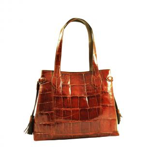 Ferrini AB5528CG Alligator Tasseled Purse Cognac Image