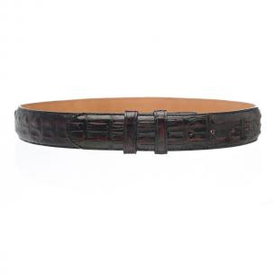 Ferrini Hornback Crocodile Belt Black Cherry Image