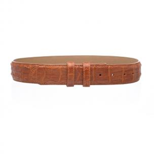 Ferrini Hornback Crocodile Belt Cognac Image