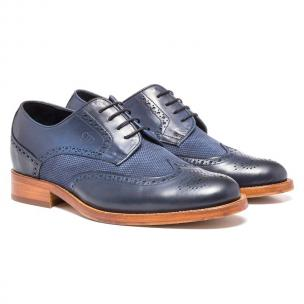 Guido Maggi Hoxton Full Grain Shoes Navy Blue Image