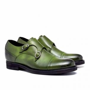 Guido Maggi Jamaica Full Grain Shoes Olive Green Shades Image