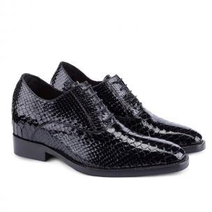Guido Maggi Madagascar Python Patent Leather Shoes Black Image