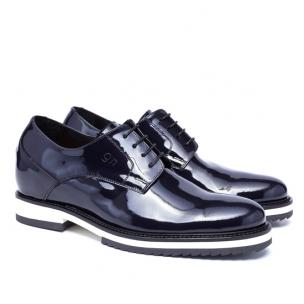 Guido Maggi Rue de Rivoli Patent Leather Shoes Dark Blue Image