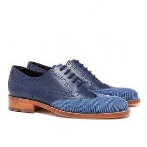 Guido Maggi Via Tornabuoni Full Grain Shoes Blue Image