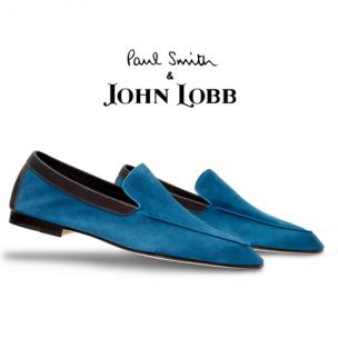John Lobb Lucca Suede Loafers Sea Blue Image