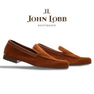 John Lobb Riviera Suede Loafers Tobacco Image