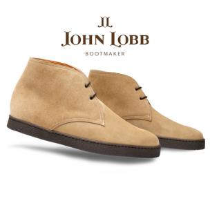 John Lobb Turf Suede Ankle Boots Sand Image