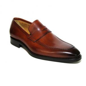 Jose Real Amberes Hand Antiqued Apron Toe Shoes Cognac Image