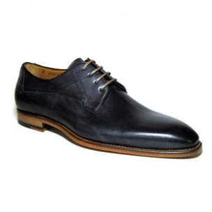 Jose Real Amberes Hand Antiqued Derby Shoes Anthracite Image