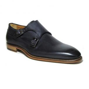 Jose Real Amberes Hand Antiqued Double Monk Strap Shoes Anthracite Image