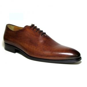 Jose Real Basoto Hand Antiqued Plain Toe Oxfords Brown Image