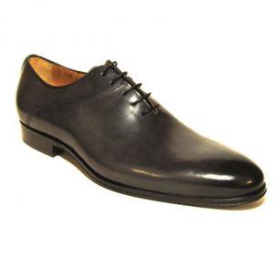 Jose Real Berlina Hand Antiqued Plain Toe Oxfords Black Image