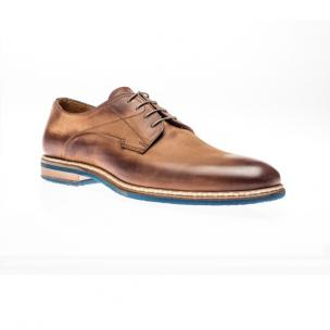Jose Real Berlina Nubuck Derby Shoes Cuoio Image