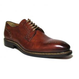 Jose Real Nordve Medallion Toe Derby Shoes Cognac Image