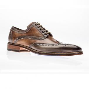 Jose Real Veloce Wingtip Spectator Shoes Cafe / Cuoio Image