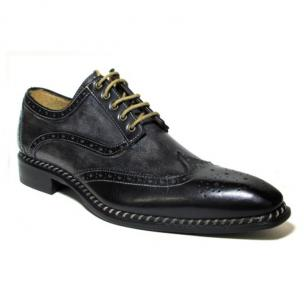 Jose Real Veloce Wingtip Brogues Black / Anthracite Image