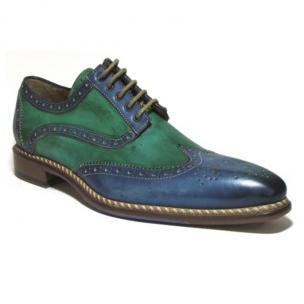 Jose Real Veloce Wingtip Brogues Green / Blue Image