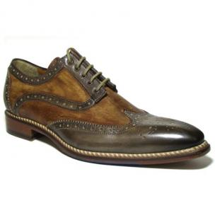 Jose Real Veloce Wingtip Brogues Café / Tan Image