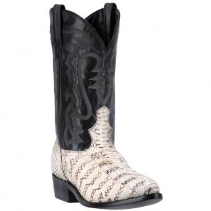 Laredo Tucker 6763 Snake Boots Black and White / Black Image