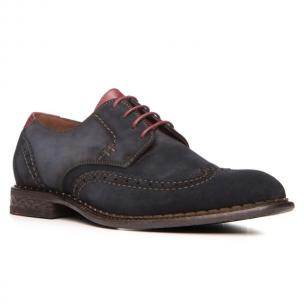 Lloyd Giles Suede Brogue Shoes Blue Image