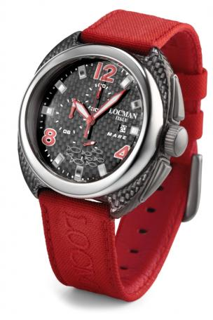Locman Mens Mare Watch Red 134CRBRD Image